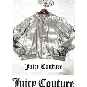 🎉HOST PICK⭐Juicy Couture Silver Bomber Jacket